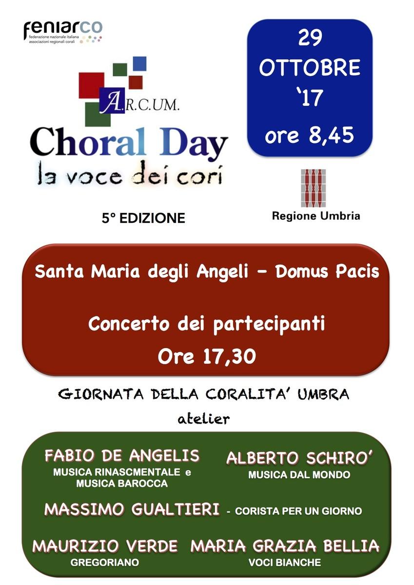 Locandina choral day 2017