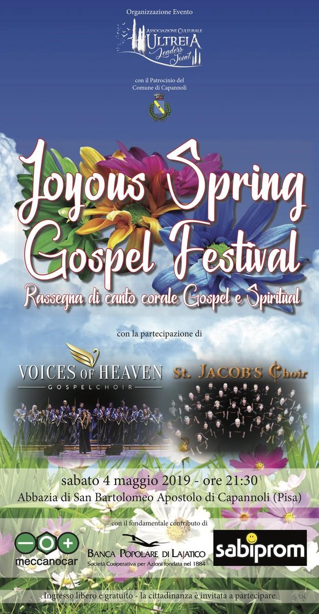 Locandina joyous spring gospel festival