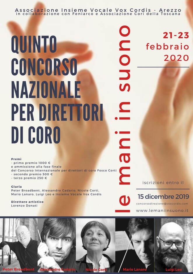 Quinto concorso nazionale per direttori di coro le mani in suono 2020