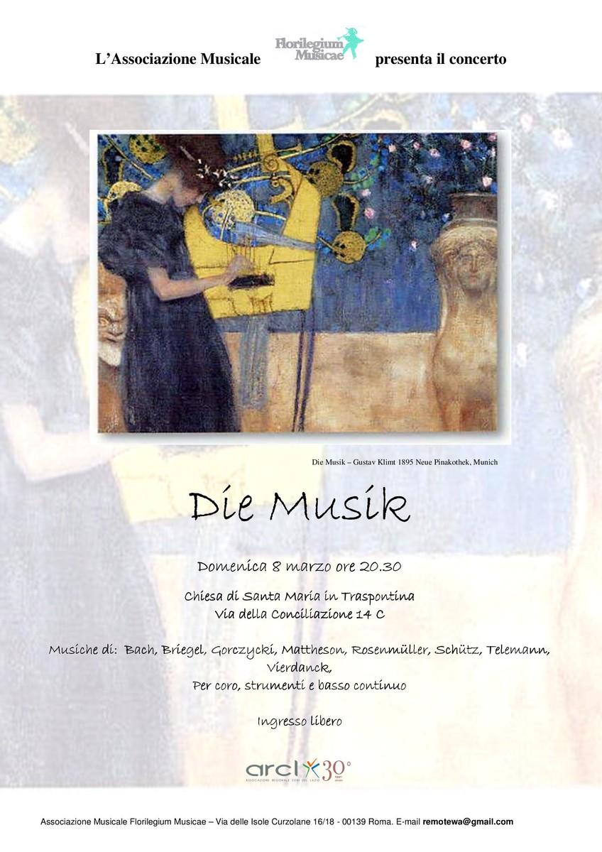 Locandina die musik 8 marzo