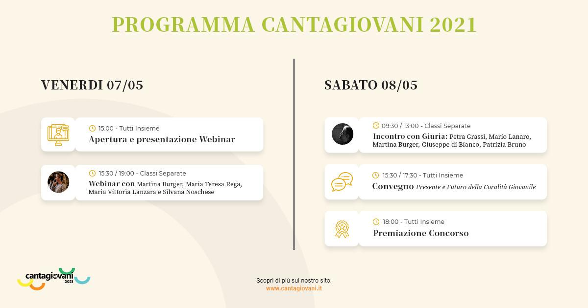 Programma cantagiovani 2021